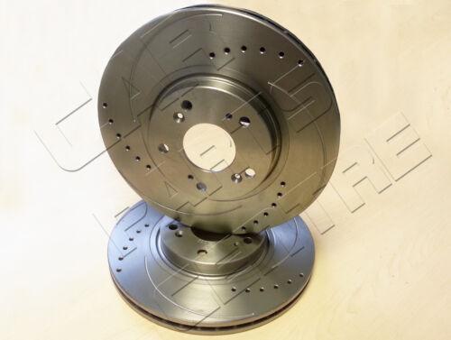 Pour honda civic 2.0 type r EP3 avant percé rainuré disque de frein disques 2001-2005