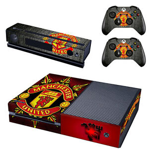 Image is loading Manchester-United-Xbox-ONE-Vinyl-Skin-Sticker-Decal-