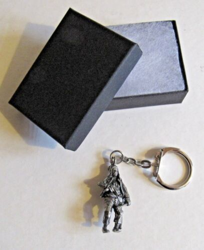 F KEYRING PEWTER ENGLISH PIRATE MARY READ FEMALE WOMAN GIRL WITH ANNE BONNY