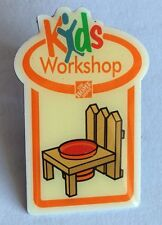 Kids Workshop Home Depot Hardware Pin Badge Collectable (E7)