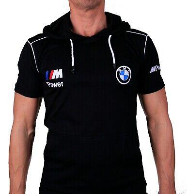 Fait Main BMW M Power T-Shirt Polo Noir Logo Homme COLLIER Coton Peigné M3 M6 M5