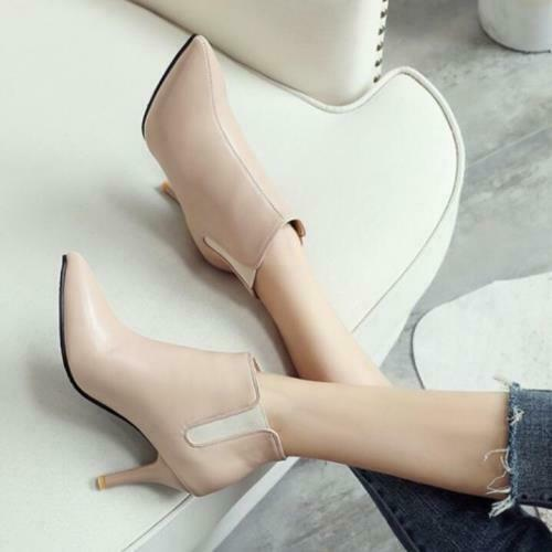 Details about  /Womens Ankle Boots Pointy Toe Casual Shoes Stilettos High Heel Party 46 47 48 D