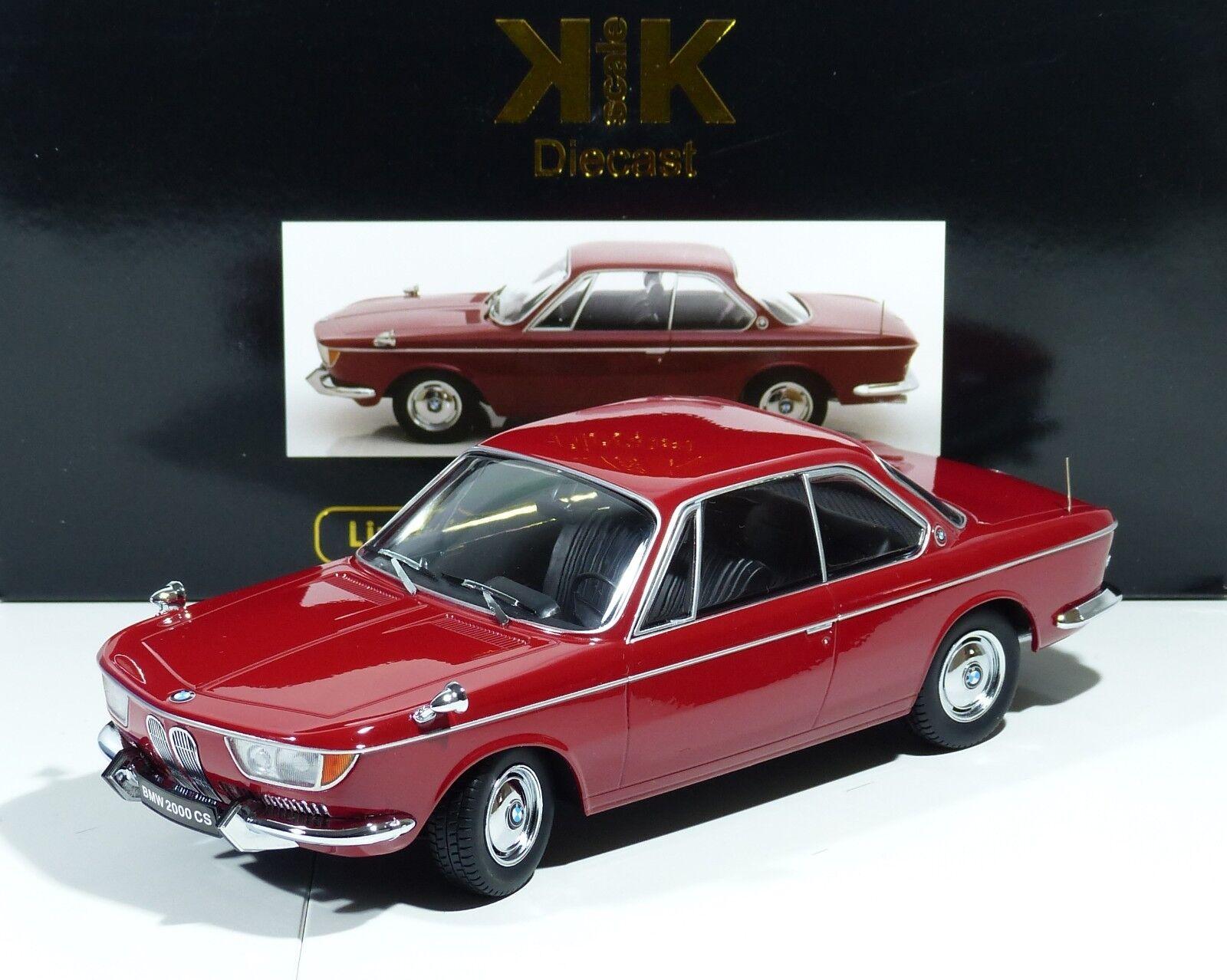 barato en línea KK-scale 1 18   bmw 2000 CS CS CS coupé darkrojo-año de construcción 1965 -    nuevo    OVP    1 18  el mas reciente