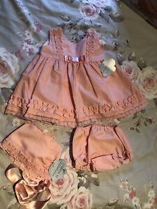 A Baby Girls Spanish Romany  Camel /& Brown Set 3-36Months