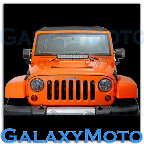 """20/"""" LED Light bar Steel Hood Mounting Brackets kit for 07-17 Jeep JK Wrangler"""