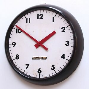 ENGLISH-1960s-Gent-Vintage-Retro-Modernist-Industrial-Factory-Office-Clock-Gents
