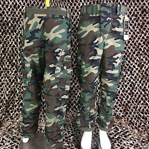 NEW Valken V-Tac ECHO Combat Tactical Paintball Pants - Woodland Camo - X-Large