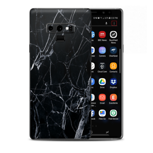 Skins Decal Wrap for Samsung Note 9 - Black Marble Granite White