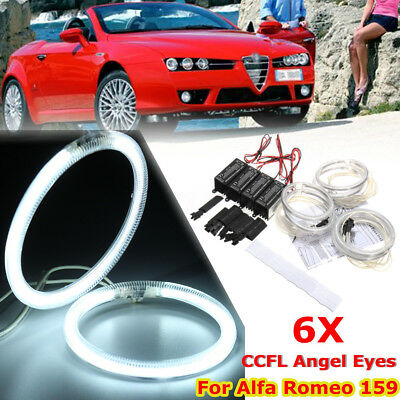 6x 95mm 90mm 85mm LED CCFL Angel Eyes Halo Rings For Alfa Romeo 159 05-11