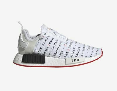 new concept 37319 30f6f Adidas Originals NMD R1 J EH3201 Berlin Tokyo Black White Red GS Youth 3.5  - 7 Y | eBay
