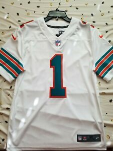Details about Miami Dolphins Tua Tagovailoa #1 Nike White 2nd Alternate Vapor Limited Jersey