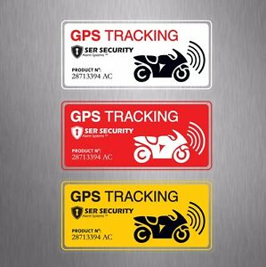 3x2 Motorbike Security Warning Sticker Gps Tracking