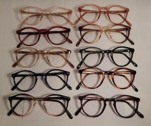 Vintage-10-Pc-Lot-Elite-Dumont-Assorted-Colors-46-24-Eyeglass-Frame-NOS-S10