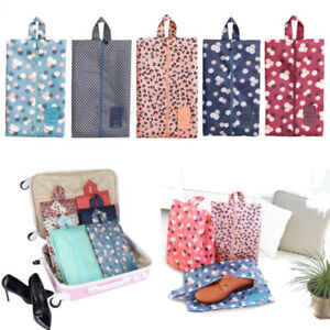 4b2e2f61fd03 Details about Multipattern Waterproof Nylon Portable Travel Shoe Storage  Bag Pouch with Zip UK