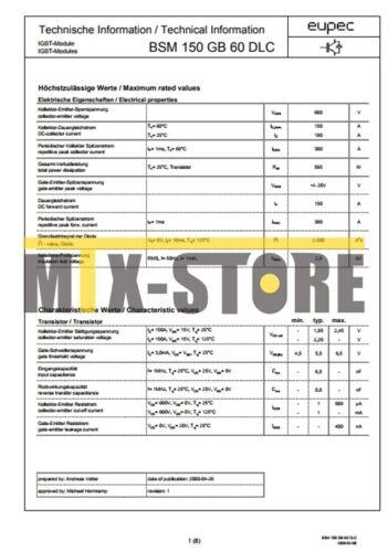 1PCS BSM150GB60DLC Módulo De Alimentación Nuevo Mejor Oferta Mejor Precio Garantía De Calidad
