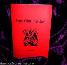 PACT WITH THE DEVIL. Occult Finbarr Witchcraft. Black Magic Grimoire Magick