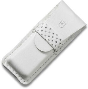 Victorinox Swiss Army White Leather Pouch For Tomo And