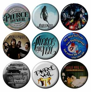 PIERCE-THE-VEIL-Various-Badges-2-5-cm-1-inch-Button-HandCrafted