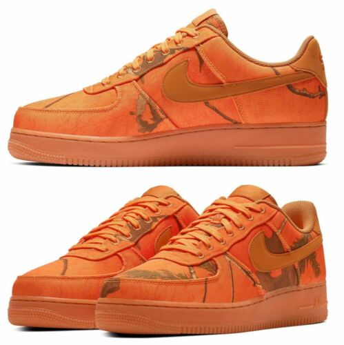 New NIKE Air Force 1 Low LV8 Camo Realtree Shoes Mens all sizes orange