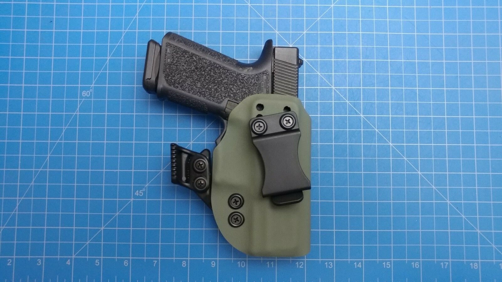 Polymer 80 Pf940c Iwb right hand carry kydex Holster with holster claw foliage