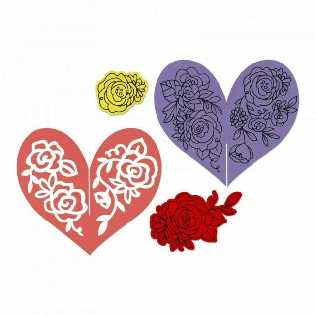 Heart Garland 662643 David Tutera Sizzix Framelits Die /& Stamps New Out