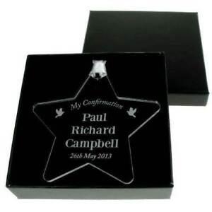 Personalised Engraved Confirmation Keepsake Star Gift Ideas For Grandson Sis 616641529406 Ebay