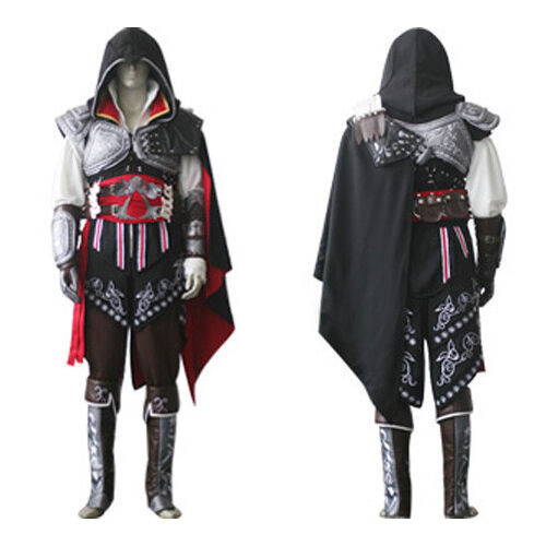 ASSASSIN'S CREED COSPLAY Ezio Auditore Costume completo REVELATIONS BROTHERHOOD
