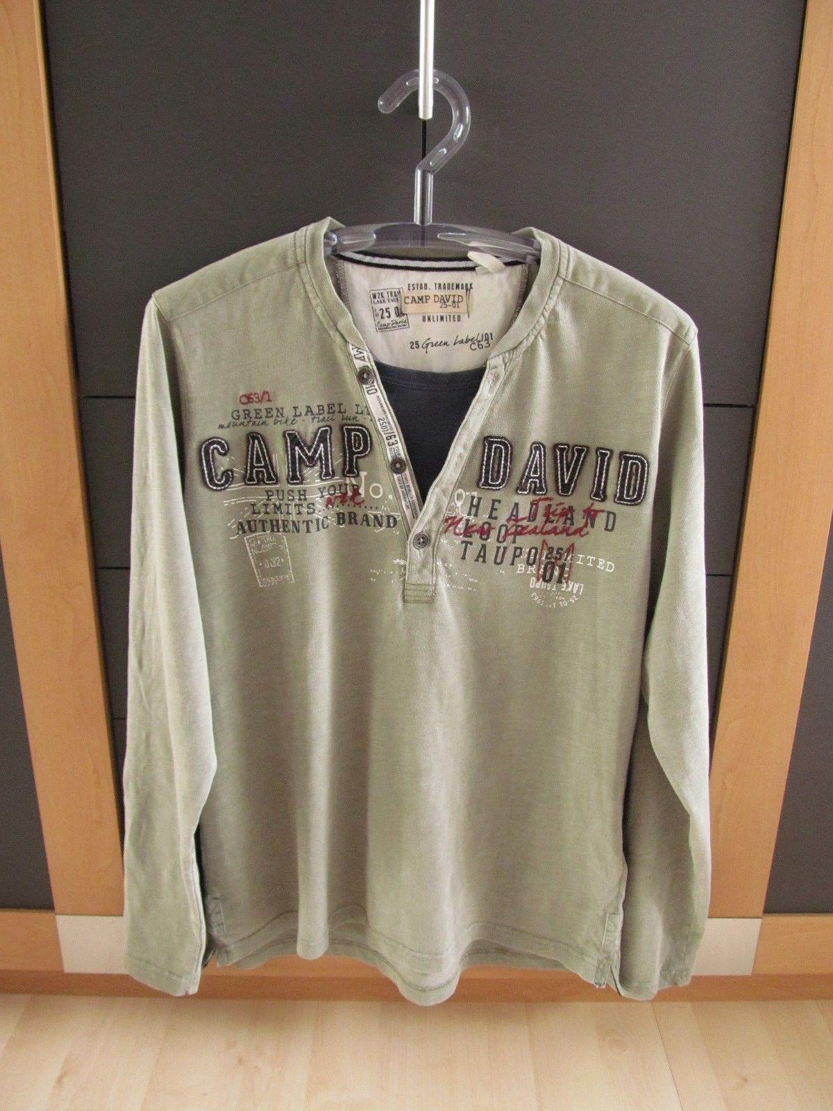 Leichter Camp David Pullover Sweatshirt Gr.L Oliven grün , Neu | Verschiedene Waren
