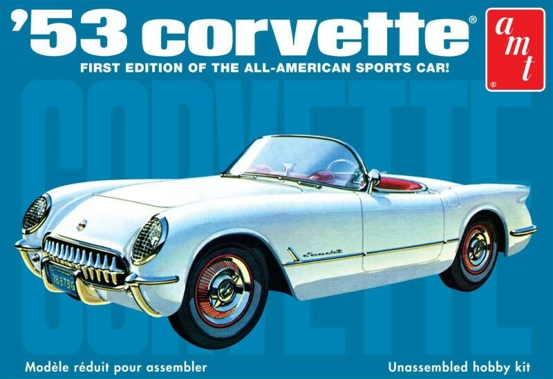 AMT Plastic Kit - 1953 Chevy Corvette 1 25 Scale Highly Detailed
