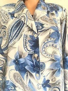 Alfred Dunner Womens Plus Size Paisley Knit Twofer Top