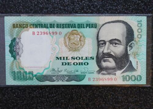 1981 Mil Soles De Oro Banco Central de Reserva del Peru Uncirculated Note.