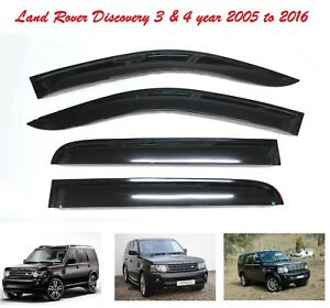 Land-Rover-Discovery-3-4-WINDOW-DEFLECTOR-VISOR-VENT-SHADE-SUN-GUARD-BLACK-M110