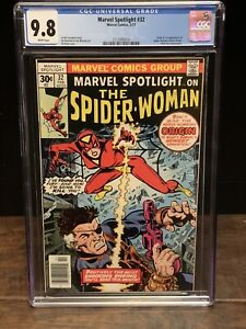 Marvel Spotlight 32 CGC 9.8  1st Spider-Woman  White Pages 2112095016