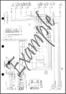 1985 Ford Crown Victoria Mercury Grand Marquis Wiring Diagram Electrical Foldout Ebay