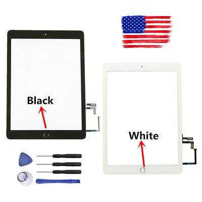 Home Button for iPad 2017 5th Gen A1822 A1823 USA Glass Touch Screen Digitizer