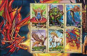 2011-AUSTRALIA-Mythical-Creatures-M-S-FU-CTO