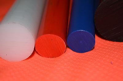 80mm x 12mm white ACETAL DELRIN PLASTIC NYLON ROD SHAFT BAR 4 pack
