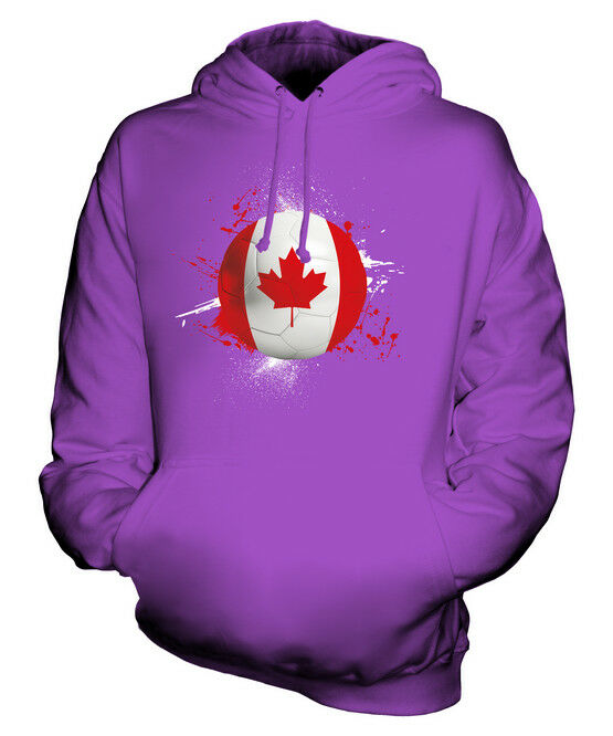 CANADA FOOTBALL UNISEX HOODIE TOP GIFT WORLD CUP SPORT