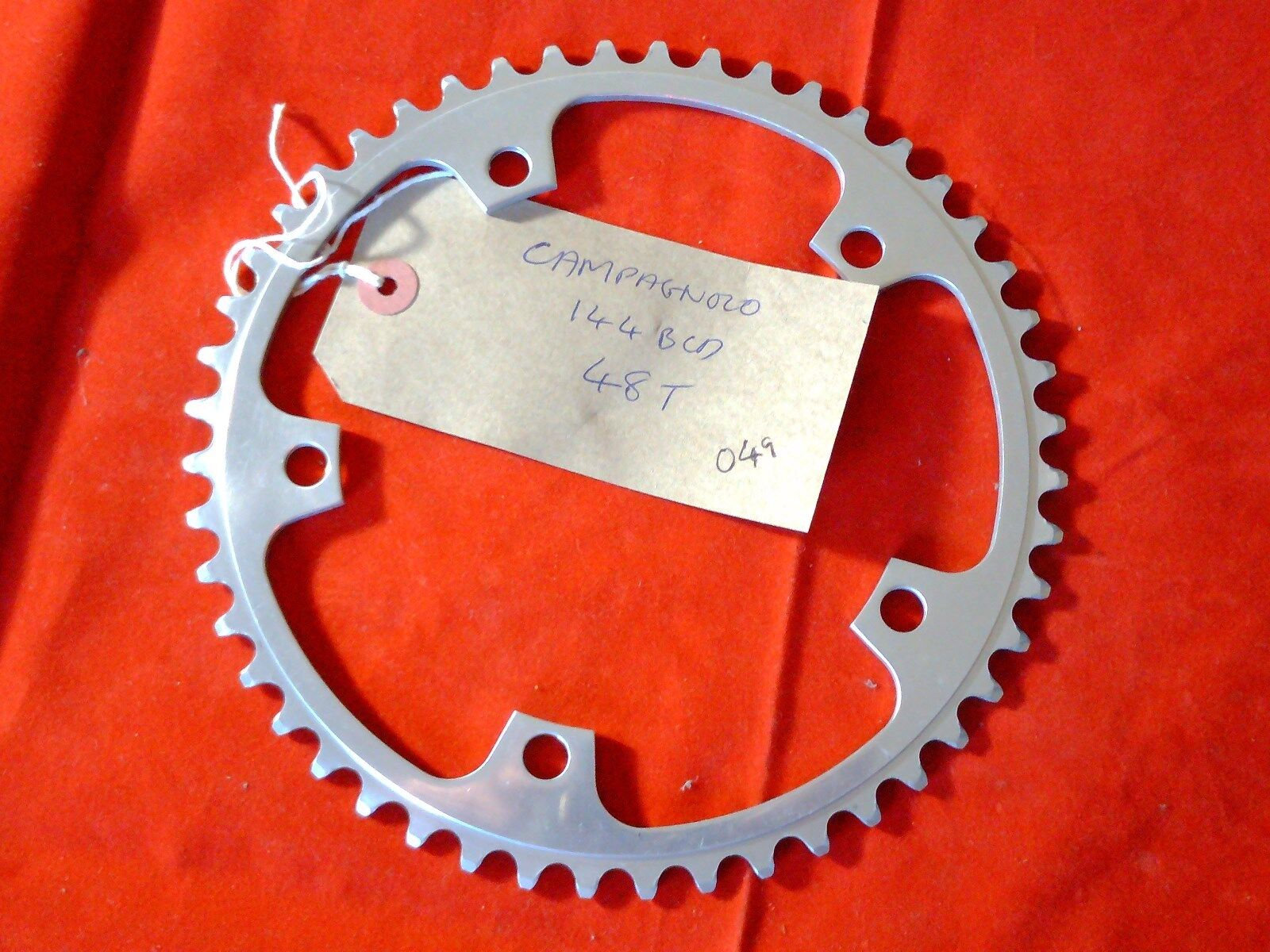 48 TOOTH 144BCD 144BCD 144BCD CAMPAGNOLO SUPER RECORD CHAINRING b6c56b