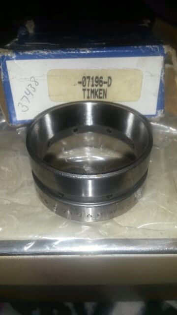 """Double Cup OW 0.3750/"""" NEW Timken 07196D Tapered Roller Bearing OD 1.9690/"""""""
