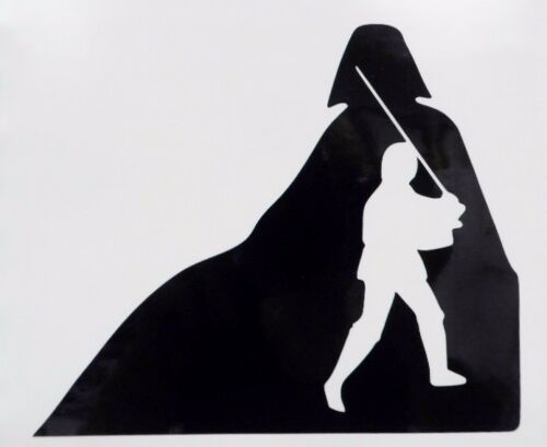 Star Wars Darth Vader Luke Skywalker Car Window Vinyl Decal Sticker Choose Color
