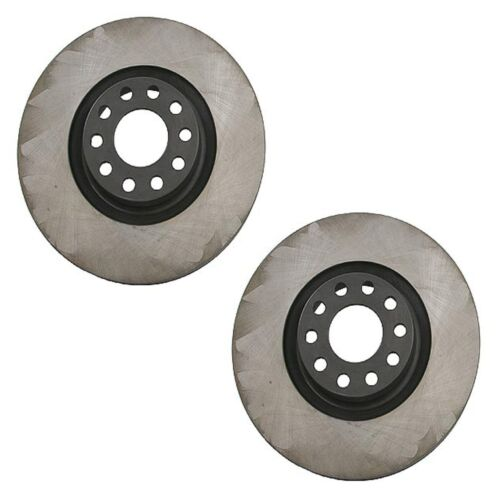 For Audi A6 A6 Quattro S6 Pair Set of 2 Front Disc Brake Rotors OPparts 40554032