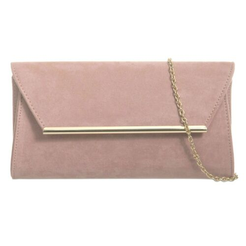 New Suede Wedding Ladies Party Prom Evening Clutch Hand Bag Purse Hand Bag Uk