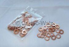 50 STÜCK Kupferringe Dichtringe Dichtungen Cu 6x12x1,0 mm DIN 7603 Form A
