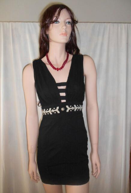 PARADISCO Black Sleeveless Cut-Out Dress Sz 8 BUY ANY 5 ITEMS = FREE POST
