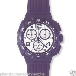 Swatch-Watch-SUIV400-Unisex-Purple-Funk-Chrono-New-Original