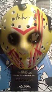 Ari Lehman Friday the 13th Jason Mask Signed COA Autograph Bam Box