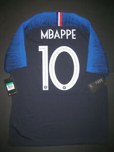 release date: 6dbd1 39eb4 Details about 2018-2019 Nike Authentic France Kylian Mbappe Vaporknit  Jersey Shirt Kit Match