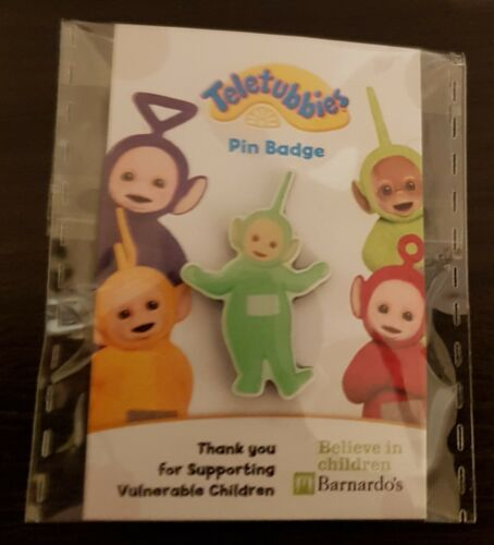 """CHOOSE THE COLOUR YOU WANT Brand New /& Sealed/""""Barnardo/'s Teletubbies/"""" Pin Badge"""