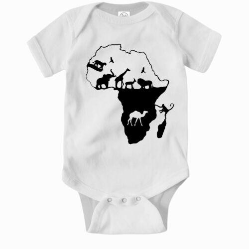Cute Baby Clothes One Piece Jump Suit Bodysuit Africa Wildlife Romper